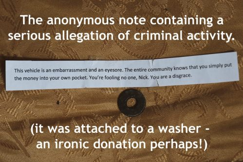 Accusation note
